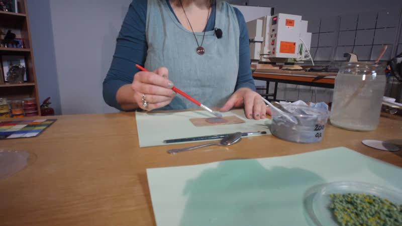 Egyszerű, kör alakú medál készítése - üveggyöngy ráolvasztásával 2. rész